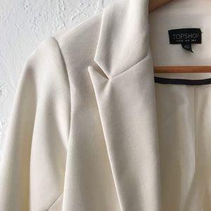 Topshop Jackets & Coats - Topshop - Ponte jet pocket blazer off white